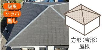 方形屋根には破風・ケラバはありません