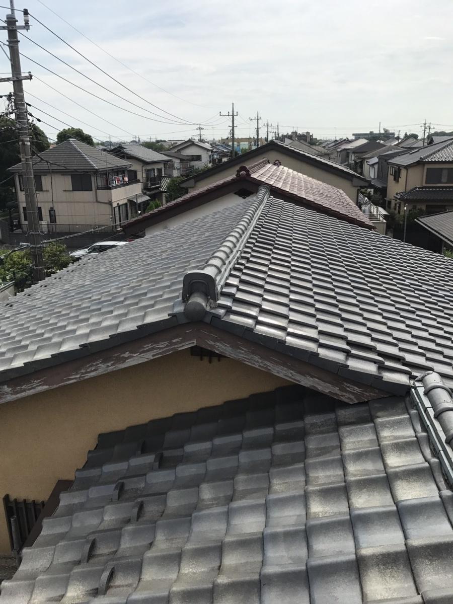 越谷市弥栄町のお客様宅瓦屋根の無料調査に伺いました!!