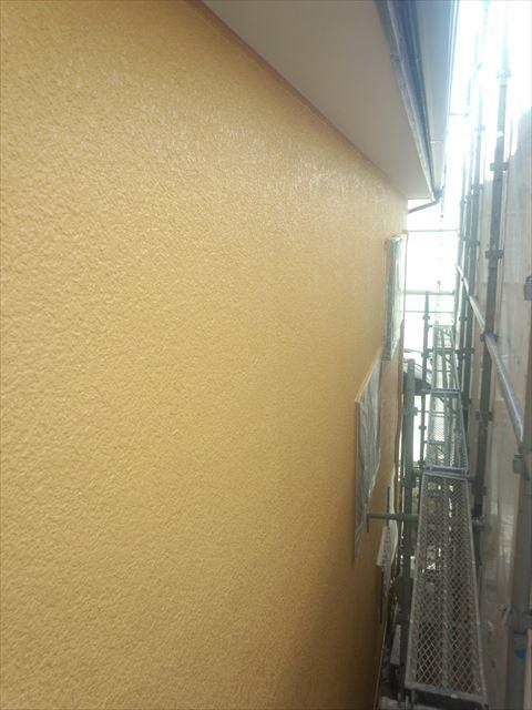 外壁上塗り後
