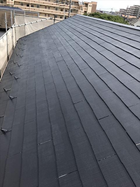 屋根中塗り後