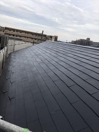 屋根上塗り後