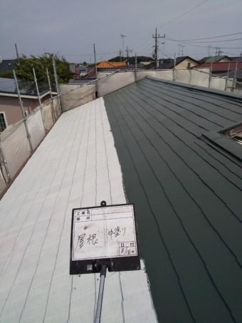 春日部屋根遮熱塗装