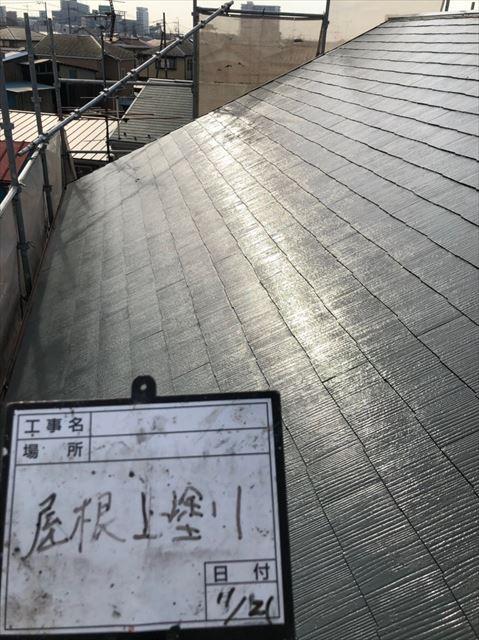 屋根遮熱塗装