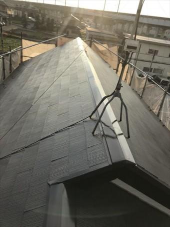 屋根上塗り完了後
