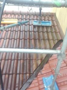下屋根洗浄前