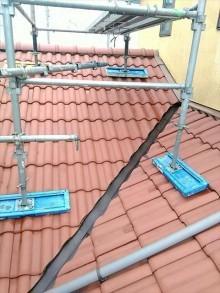 下屋根洗浄後