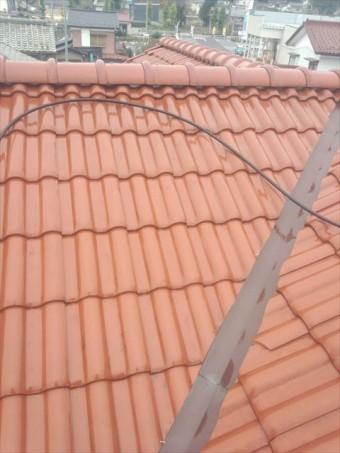屋根洗浄後