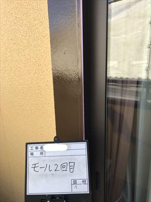 窓モール塗装完了