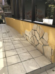 塀上塗り完了