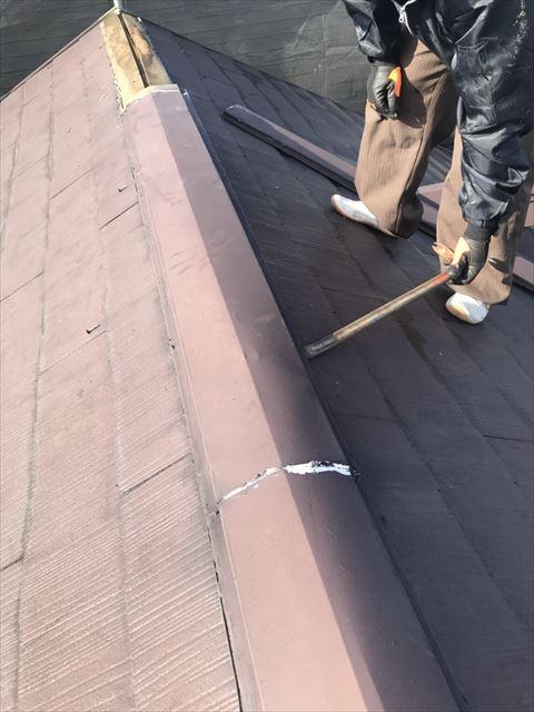 屋根板金取り外し