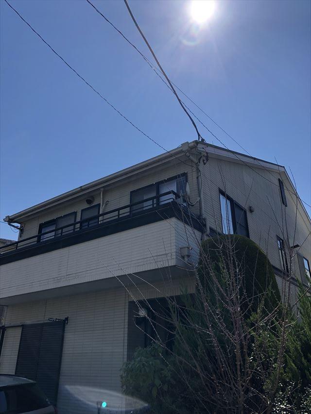 春日部市大沼で外壁屋根塗装の無料現調に伺いました