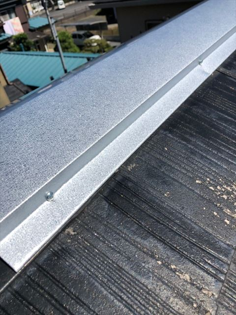 屋根棟板金補修