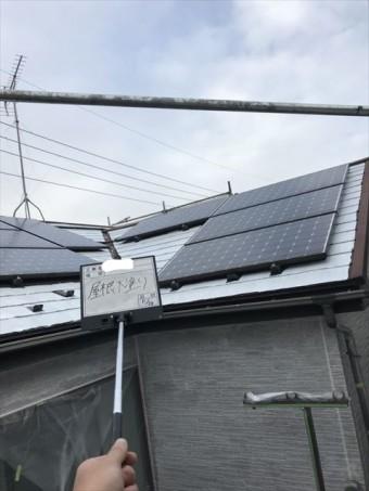 屋根下塗りソーラー面