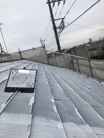 屋根下塗り後