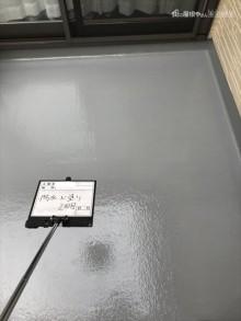 ベランダ防水塗装トップ2回目塗装後