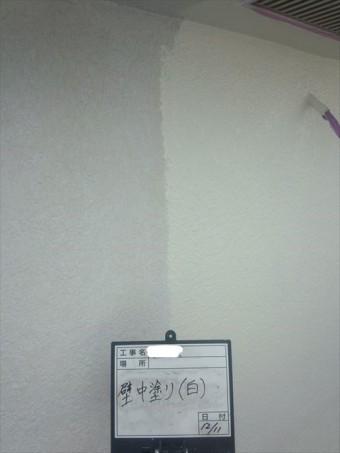 外壁中塗り差中